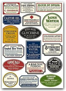 More apothecary labels