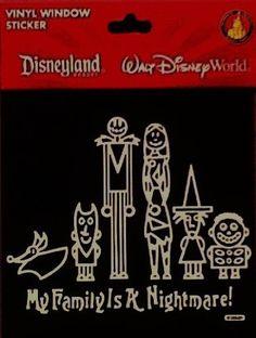 Disney Nightmare Before Christmas Jack Skellington Vinyl Window Decal