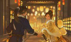 Chinese Drawings, Chinese Art, Chinese Style, Dragon City, Wattpad, Digital Art Tutorial, Cute Anime Boy, Anime Angel, Landscape Illustration