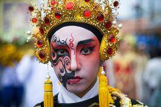 Kathu Thailand street fair painted face