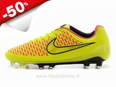 super popular e0edc 5600a Chaussures de Foot 2014 Nike Magista Opus FG Jaune Or Rose Magista Pas Cher