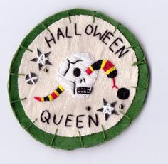 Limited Edition Embellished Halloween Queen Patch by Hanecdote, £20.00