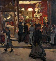 Isaac Israels (1865-1935)  Hat Shop, circa 1895