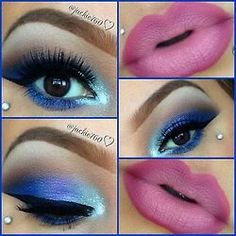 Gorgeous blue and ombre lips