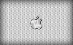 Chrome Apple Logo On Black Background iPhone Wallpaper | Metal