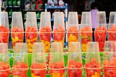 fruit cups ♥ #food #fruits #dessert