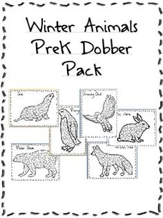 This Winter Animals PreK Dobber Pack can be used in a variety of ways to help students become familiar with several winter animals. This pack includes pages for a seal, snowy owl, arctic fox, arctic hare, penguin, and polar bear. Though the Winter Animals PreK Dobber Pack was created for use with dobbers, also known as dot markers or bingo dobbers, students can use any number of ways to beautify their pictures, including regular markers, crayons, watercolors, finger paint, colored pencils…