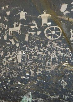 Petroglyphs on Newspaper Rock State Historic Monument