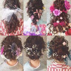 * * 卒業式 hair イロイロ * * * 生花 造花 チュール リボン 可愛くsetします♡ * * #ヘアアレンジ #卒業式ヘア #浜松市 #マリhair Hair Arrange, Hair Setting, Hair Ornaments, Hair Goals, Girly Things, Hair Inspiration, Hair Makeup, Kimono, Hair Beauty