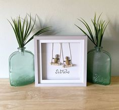 A gift for your sister to show how much you love her! Your best friend for life... Presented to you in a 3D glass frame which will be wrapped in bubble wrap when posting. The frame is 27cm x 27cm. I can include free personalised wording if required. Each art piece is made to order with your own Stone Crafts, Rock Crafts, Heart Crafts, Pebble Pictures, Art Pictures, Stone Pictures, Seashell Bouquet, Pebble Art Family, Gifts For Your Sister