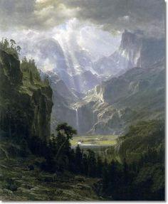 Albert Beirstadt - Albert Bierstadt - Landers Peak 1863 Painting