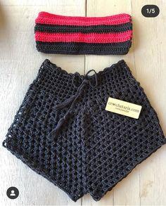 Crochet Top Outfit, Crochet Shorts, Crochet Crop Top, Crochet Blouse, Crochet Clothes, Crochet Bikini, Knit Crochet, Crochet Bathing Suits, Crochet Magazine