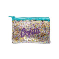 Poptart Pouch Confetti-Not just for breakfast foods, this short Confetti Poptart Pouch can hold all of your little trinkets, tools, and tidbits! Bend And Snap, Branded Gifts, Print Templates, One Color, Pop Tarts, Confetti, Vegan Leather, Coin Purse, Swag