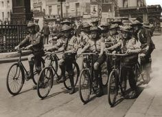 Scout messengers on #bicycles in Victoria Street, London during the First World War, circa 1914-1918   #scouts