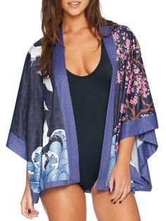 Flight of Tsuru Kimono - LIMITED (AU $120AUD) by Black Milk Clothing