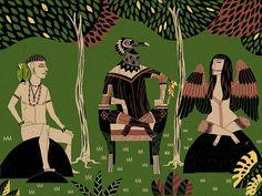 Energia tropicale e riscoperta delle tradizioni tribali: André Ducci - Picame Character Illustration, Illustration Art, Illustrations, Behance, Ipad Art, Creative Inspiration, Art Drawings, Digital Art, Photoshop