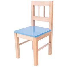 Bigjigs Toys Children's Wooden Blue Chair - Bedroom Furniture and Accessories Cool Desk Chairs, Metal Chairs, Wooden Chairs, Arm Chairs, Office Chairs, Childrens Desk And Chair, Childrens Rocking Chairs, Monkey Pod Wood, Mini Chair