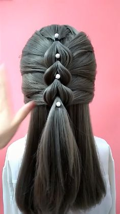 Cute Simple Hairstyles, Easy Hairstyles For Long Hair, Up Hairstyles, Braided Hairstyles, Hair Cutting Videos, Hair Videos, Hair Up Styles, Medium Hair Styles, Hair Style Vedio
