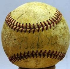 BABE RUTH SINGLE SIGNED BASEBALL CERTIFIED BY JAMES SPENCE AUTHENTICATION