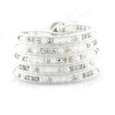 Victoria Emerson 5-Wrap bracelet Victoria Emerson Wrap bracelet with Clear, White and Silver Crystals on White Leather. 100% hand made with care. Unbelievable attention to detail. Comes with a Victoria Emerson Pouch & Engraved Victoria Emerson Nickel-Free Clasp. Makes a great Christmas gift! Only 2 available! Jewelry Bracelets