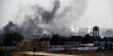 Einschläge türkischer Artillerie in Tal Abyad an der syrisch-türkischen Grenze Iran, Ankara, Washington, Clouds, Outdoor, Turkish Soldiers, American Presidents, Outdoors, Washington State