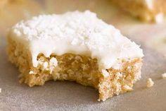 No-bake Lemon Coconut Slice - a childhood favourite!