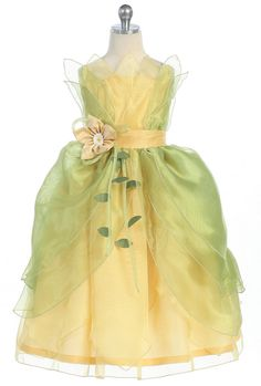 Princess Tiana Princess and the Frog Costume by Princessonthego, $55.00