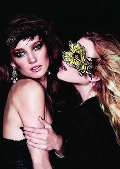 Bal Masqué,Vogue Paris, October 2010 Photographer: Josh Olins,Butterfly mask by Philip Treacy