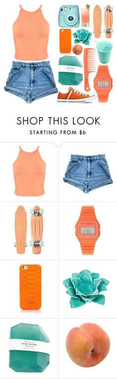 """Tropical"" by emma-beattie ❤ liked on Polyvore featuring Miss Selfridge, Casio, Tory Burch, Zingz & Thingz, Pavilion Broadway and Converse"