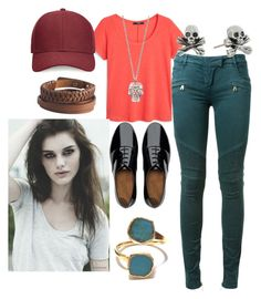 """""""casual 2"""" by ri-hab on Polyvore featuring mode, Balmain, MANGO, FitFlop, Whistles, Alexander McQueen, Pieces et King Baby Studio"""