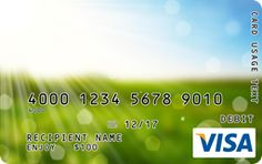 Sun-Bleached Meadow Visa Gift Card Custom Gift Cards, Buy Gift Cards, Visa Gift Card, Branded Gifts, Bleach, Sun, Don't Forget, Upcycle, Ideas