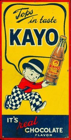 Vintage poster - Kayo Chocolate Drink