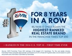 RE/MAX breaks into the top 10 franchises in the country.