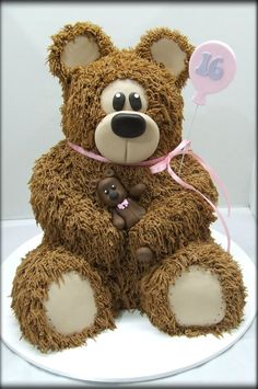 Brown Shaggy Bear Chocolate mud cake by Cake A Chance On Belinda