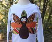 Boys Turkey Applique Shirt...Ready for Delivery...Available in Size 18m, 2, 4, and 6