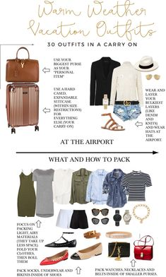 Warm-Weather Vacation: 1 Carry On – 30 Outifts