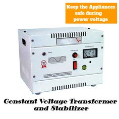 Power engineers manufacture constant voltage transformer and stabilizer.we design appliances which are safe during power fluctuations.