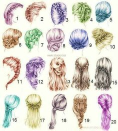 Pin by Diana Thayer on Hair in 2019 Pin by Diana Thayer on Hair in 2019 Cute Hairstyles, Braided Hairstyles, Anime Hairstyles, Cute Drawings, Drawing Sketches, Medium Hair Styles, Curly Hair Styles, Hair Sketch, Hair Reference