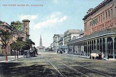 A collection of old postcards of Kolkata (formerly Calcutta) in West Bengal, India. Indian Postcard, Colonial India, West Bengal, Rare Pictures, Kolkata, Vintage Postcards, The Past, Wildlife, Street View