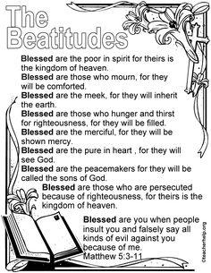The Beatitudes Coloring Sheet Link Is No Good