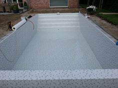 Zwembad met liner elbe black pearl swimming pools black