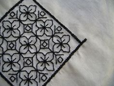 Blackwork - it's easy to reconstruct this pattern