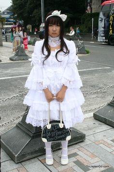 Gothic Lolita in Harajuku Tokyo.