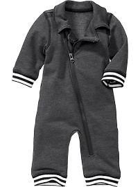 Fleece Zip-Front One-Pieces for Baby