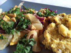 Quitten-Fenchel-Gemüse mit Anispolenta