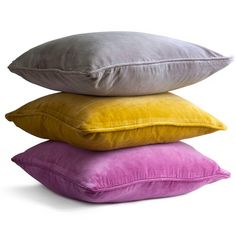 velvet square cushion by home address | notonthehighstreet.com