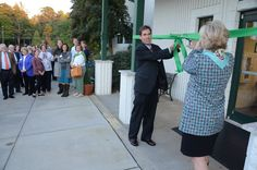 Head of School Dr. Ebeling and Director of Triad Academy Carrie Malloy at the Triad Academy Dedication