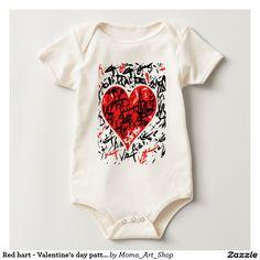 Red hart - Valentine's day pattern