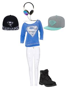 """Typical outfit"" by tabbi-gable on Polyvore featuring Frame Denim, Timberland and Frends"