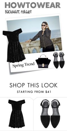 """""""Polkadot jacket"""" by trendcrossing on Polyvore featuring moda, Post-It, polkadot, springtrend e satinette"""